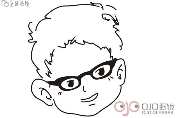大脸如何选择眼镜架?